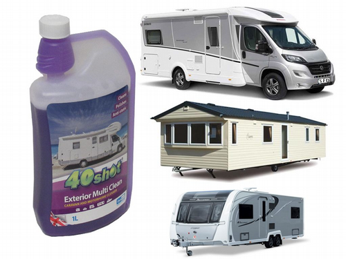 40 Shot Exterior Multi Clean 1 Litre - Car Boat Motorhome Surface Sheen
